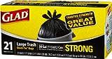 Glad Trash Quick-Tie-Black-21 ct, 30 Gal