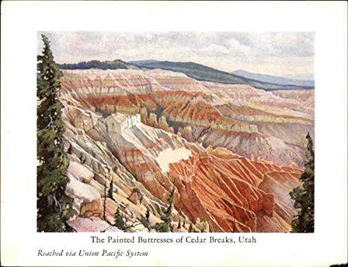 The Painted Buttresses Of Cedar Breaks, Utah - Reached Via Union Pacific System Original Vintage Postcard
