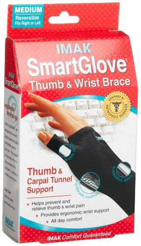 Imak  Smart Glove With Thumb & Carpal Tunnel Support, Medium  (Pack of 2)