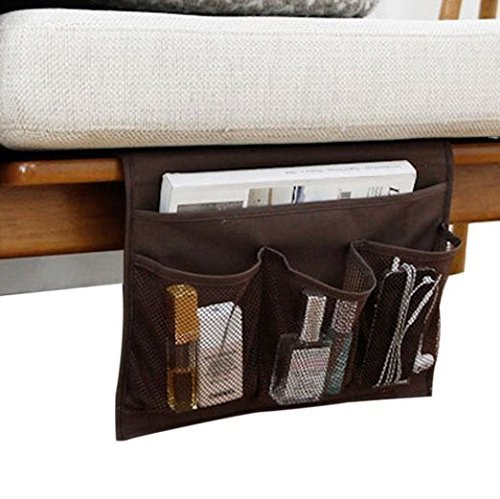 Bedside Storage Organizer/ Beside Caddy / Table cabinet Storage Organizer for tablet Magazine Phone Remotes - All Within Arms Reach (Coffee) (Side Of The Bed Storage compare prices)
