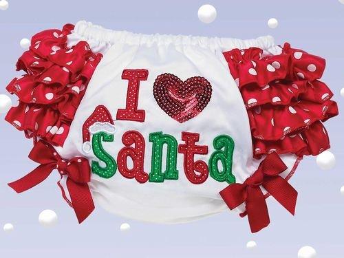 I Love Santa Diaper Cover