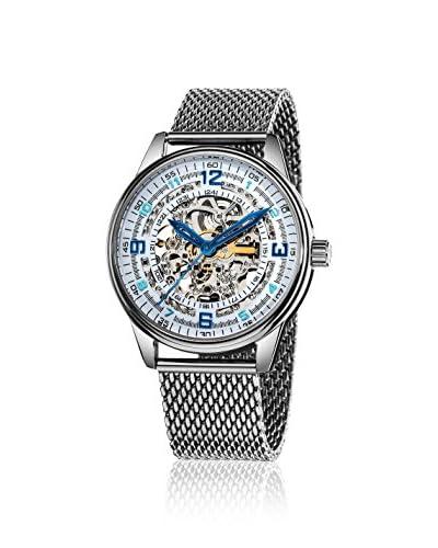 Akribos XXIV Men's AK446SS Saturnos Elite Silver-Tone Mesh Watch