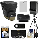 Canon Zoom Pack 1000 Digital SLR Camera Holster Case with LP-E8 Battery & Charger + 3 Filters + Tripod + Remote + Hood + Accessory Kit for Rebel T3i - T4i - T5i