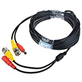 JerGO Professional Grade Siamese Combo Coaxial Cable Pre-made All-in-One BNC Video Power Cable for 1080P /720P, TVI, CVI, AHD and HD-SDI Camera and Analog CCTV Camera ( Black 25Ft )