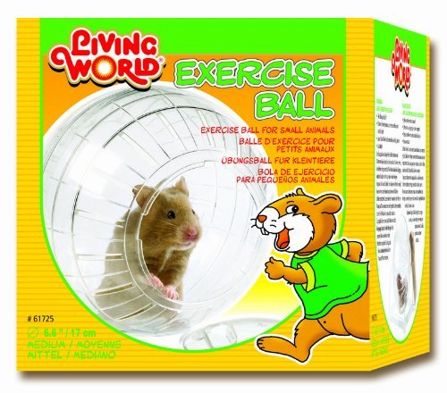 Living-World-Plastic-Hamster-Exercise-Ball-with-Stand-6-35-Inch