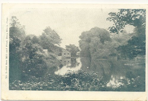 1900 Vintage Postcard Old Saw Mill and Pond -