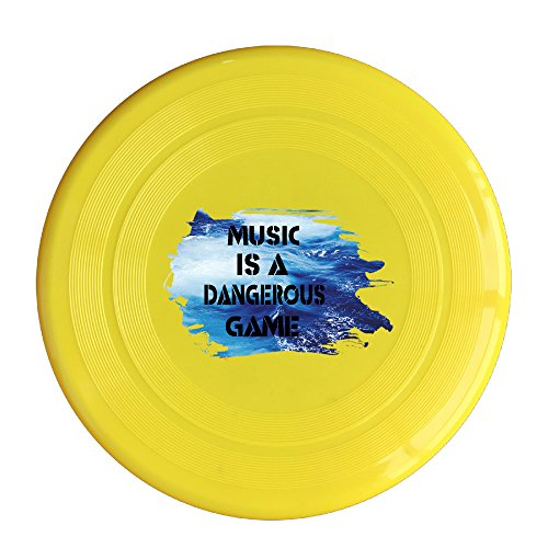 YFF Bob Marley Music Is A Dangerous Game 150 Gram Ultimate Sport Disc Frisbee Yellow