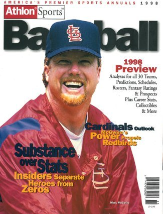 Mark McGwire unsigned St. Louis Cardinals Athlon Sports 1998 MLB Baseball Preview Magazine at Amazon.com