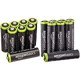 AmazonBasics AA & AAA Rechargeable Batteries (8-Pack) Pre-charged Bundle - Packaging May Vary (Tamaño: AA & AAA 8 Packs)