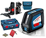 Bosch GLL 2-50 Cross Line Laser + BM1 Wall Mount, Ceiling Clamp in L-Boxx DW088K