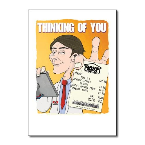 Old Man Receipt Funny Happy Birthday Greeting Card Office