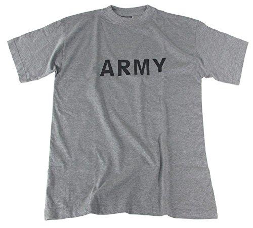 US Army T-Shirt mit ARMY grau S-XXL XXL XXL,Grau/Grey