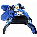 Disney Toy Story Toddler Blue Winter Scandinavian Hat Gloves Set 2T-4T