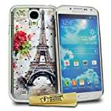 Accessory Master Case for Samsung Galaxy Ace 4 i9500 Eiffel Tower Design Pink with Crystals