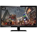 JN-T2820UHD 28型 4K モニター 60Hz対応ワイド液晶ディスプレ (3840×2160 UHD) HDMI 2.0 / DVI / DP / 2.5ms