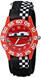 Disney kids' W001197 Time Teacher Cars Watch With Checkerboard Nylon Band