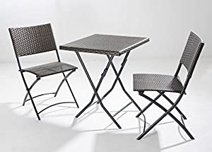 Set pieghevole sedie e tavolo keros portatile da arredo for Arredo giardino amazon