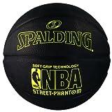 Spalding 71025 NBA Street Phantom Outdoor Basketball, Neon Yellow/Black, Size 7/29.5