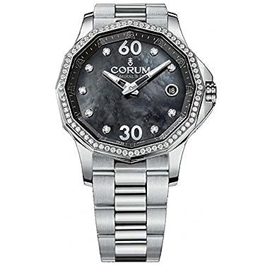 Corum Admiral'S Cup Legend 38 082.101.47/V200 PN11 38mm Diamonds Automatic Silver Steel Bracelet & Case Anti-Reflective Sapphire Women's Watch