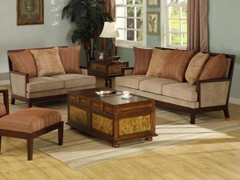 Picture of AtHomeMart 2PC Warm Colored Sofa and Loveseat Set (CRMKS1060-2_3_2PC) (Sofas & Loveseats)