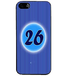 PrintDhaba Numerology Number 26 D-2584 Back Case Cover for APPLE IPHONE 4S (Multi-Coloured)