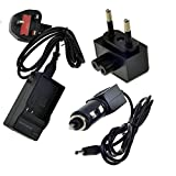 TOP-MAX Travel Charger for NB-6L NB-6LH Battery Canon PowerShot SX170 IS, SX240 HS