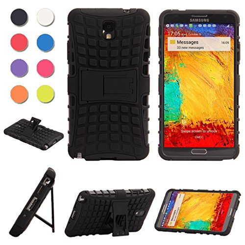 Note 3 case,Galaxy Note 3 case,Samsung Note 3 case *NEW* heavy duty[shockproof] [dropproof] Full-body Rugged Case with kickstand for Samsung galaxy Note 3.-Black (Note 3 Case Spigen compare prices)