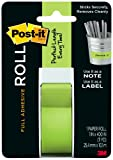 Post-it Full Adhesive Roll, 1 x 400 Inches, Green, 1-Pack ,2650-G