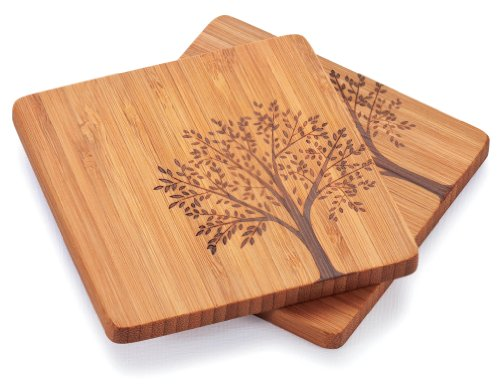Bambu Coasters with Tree Motif