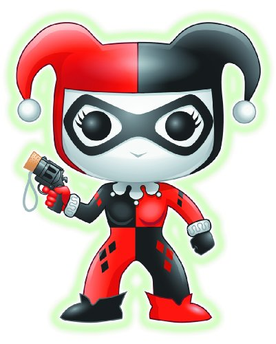 Funko POP Heroes: Harley Quinn Glow-in-The-Dark Vinyl Figure