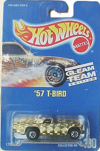 '57 T-Bird 1992 Gleam Team Light Gold #190 Hot Wheels 1:64 Scale Collectible Die Cast Car