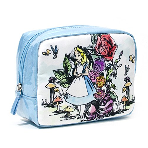 LONDON SOHO NEW YORK Disney Collection Alice In Wonderland Organizer Cosmetic Bag, Alice and Cheshire Cat (New York In A Bag compare prices)