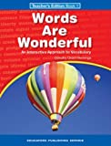img - for Words are wonderful: An interactive approach to vocabulary - Teacher's Edition Book 1 book / textbook / text book