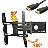 ATC Wall Flat-Pannel TV Mount Bracket For 14-40 LCD Plasma 180¡ã Rotation Tilt 20¡ã 14 17 19 20 22 24 40 with Free 6ft HDMI Cable