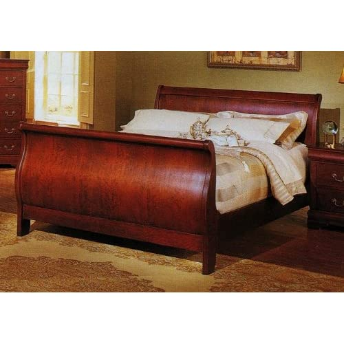 Cal King Tufted Sleigh Bed