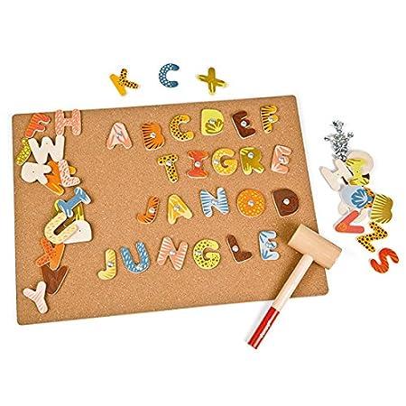 Janod - J08163 - Loisir Créatif - Jeu de Clous Jungle - 112 Pièces