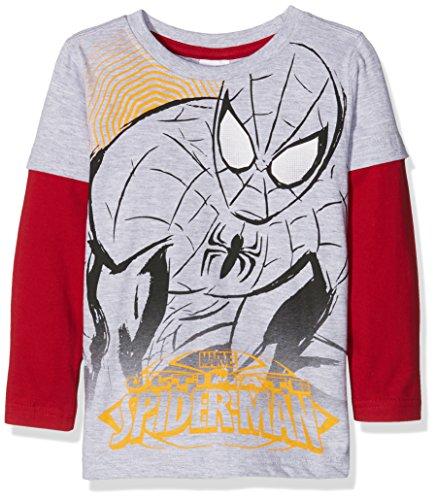 MARVEL SPIDERMAN T-Shirt, Maglietta Bambino, 931 Grigio Mel, 5 Anni