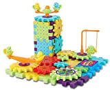 2 Pack - 81 Piece Funny Bricks Gear Building Toy Set - Interlocking Learning Blocks - Motorized Spinning Gears (Pack of 2)