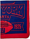 NFL New York Giants Marque Printed Fleece Throw, 50-inch by 60-inch