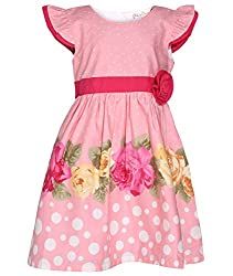 Chipchop Girls' Dress (WFGD0013P_Pink_2-3 Years)