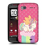 Head Case Spring Fancy Unicorns Chubby Back Case For HTC Sensation XE Sensation