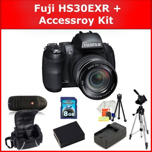 Fujifilm Finepix H30EXR Digital Camera and Accessory Kit