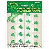 36 Hanging Shamrock St. Patrick s Day Decorations, 4ct
