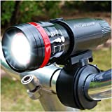 StellarLights - INTRODUCTORY SPECIAL PRICE - NEWLY UPDATED SWITCH ON LIGHT FOR 2016 - Solid Aircraft Aluminum Bike Light - BRIGHT 240 Lumens LED Bicycle Headlight With Tail light - WATERPROOF - Mounts in Seconds - NO TOOLS Required - LIFETIME WARRANTY