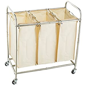 Home It Laundry Hamper With Wheels Rolling