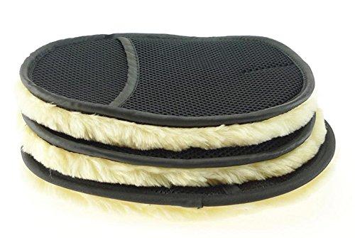 Fluffy mofumofu wool Shearling glove car wash furniture glass OA cleaning! (3 pieces)