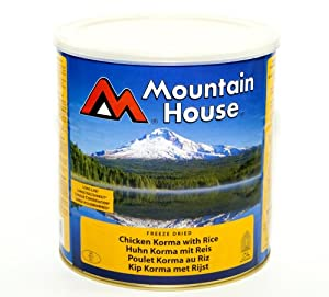 Emergency Food: Mountain House Freeze Dried Tin Chicken Korma Curry Serves 7