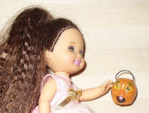 [Gothic Halloween Handled Pumpkin Trick or Treat Pot For 6-8 Inch Fashion Doll] (Gothic China Doll Costume)