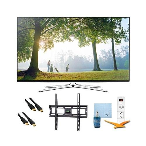 """48"""" Full Hd 1080P Smart Led Hdtv 120Hz Plus Mount And Hook-Up Bundle - Un48H6350. Bundle Includes Tv, Flat Tv Mount, 3 Outlet Surge Protector W/ 2 Usb Ports, 2 -6 Ft High Speed Hdmi Cables, Performance Tv/Lcd Screen Cleaning Kit, And Cleaning Cloth."""