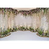Laeacco Wedding Backdrops 10x6.5ft Flower and Wedding Decoration Photography Background Fresh Flowers Spring Indoor Chic Wall White Floor Ceremony Celebration Girls Adult Portrait (Color: Nbk05375, Tamaño: 10x6.5ft)